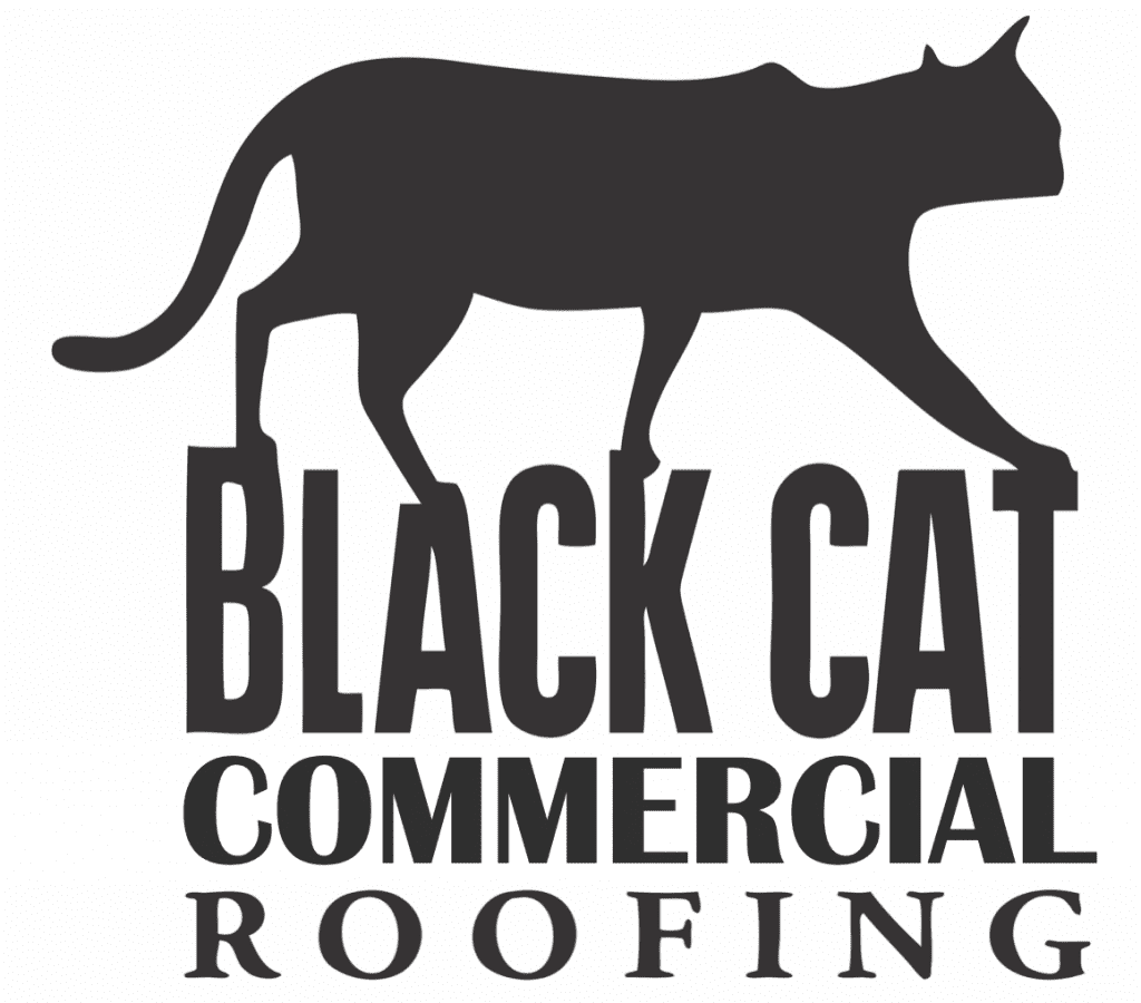 Black Cat Commercial Roofing Logo